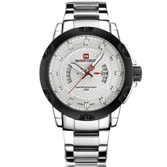 "Watch - ""THE FROZEN MIST""  - Water Resistant Stainless Steel Calendar Watch"