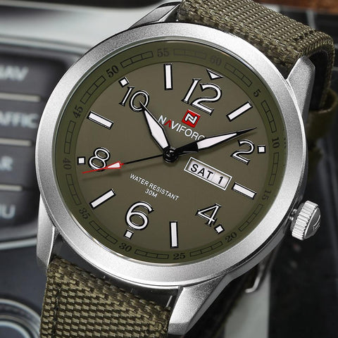 "Watch - ""THE GARRISON""  - Men's Calendar Sport Military Wristwatch"