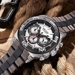 "Watch - ""THe ROAD WARRIOR"" - Chronograph Quartz Silicone Band Watch"