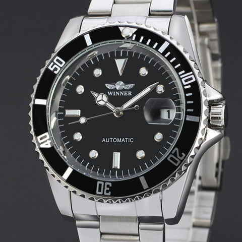 "Watch - ""THE SEA EXPLORER""  Classic Men's Stainless Steel Automatic Watch With Calendar"