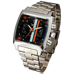 "Watch - ""THE WEEKEND RACER"" Men's Sport Automatic Square Face Calendar Watch"