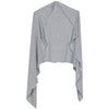 cozy wrap - heather grey