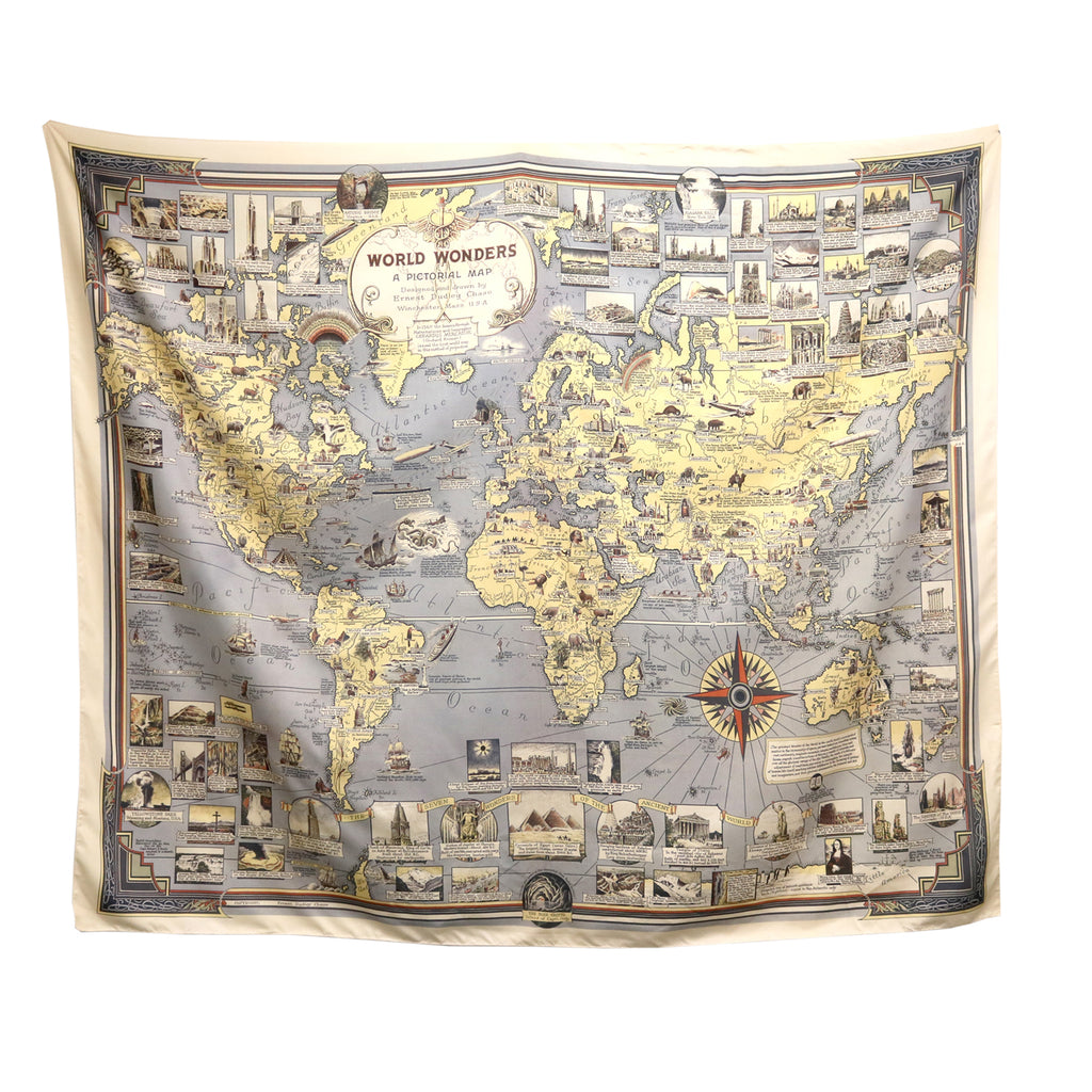 Tapestry - places world map