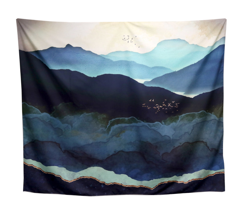 Tapestry - teal mountain