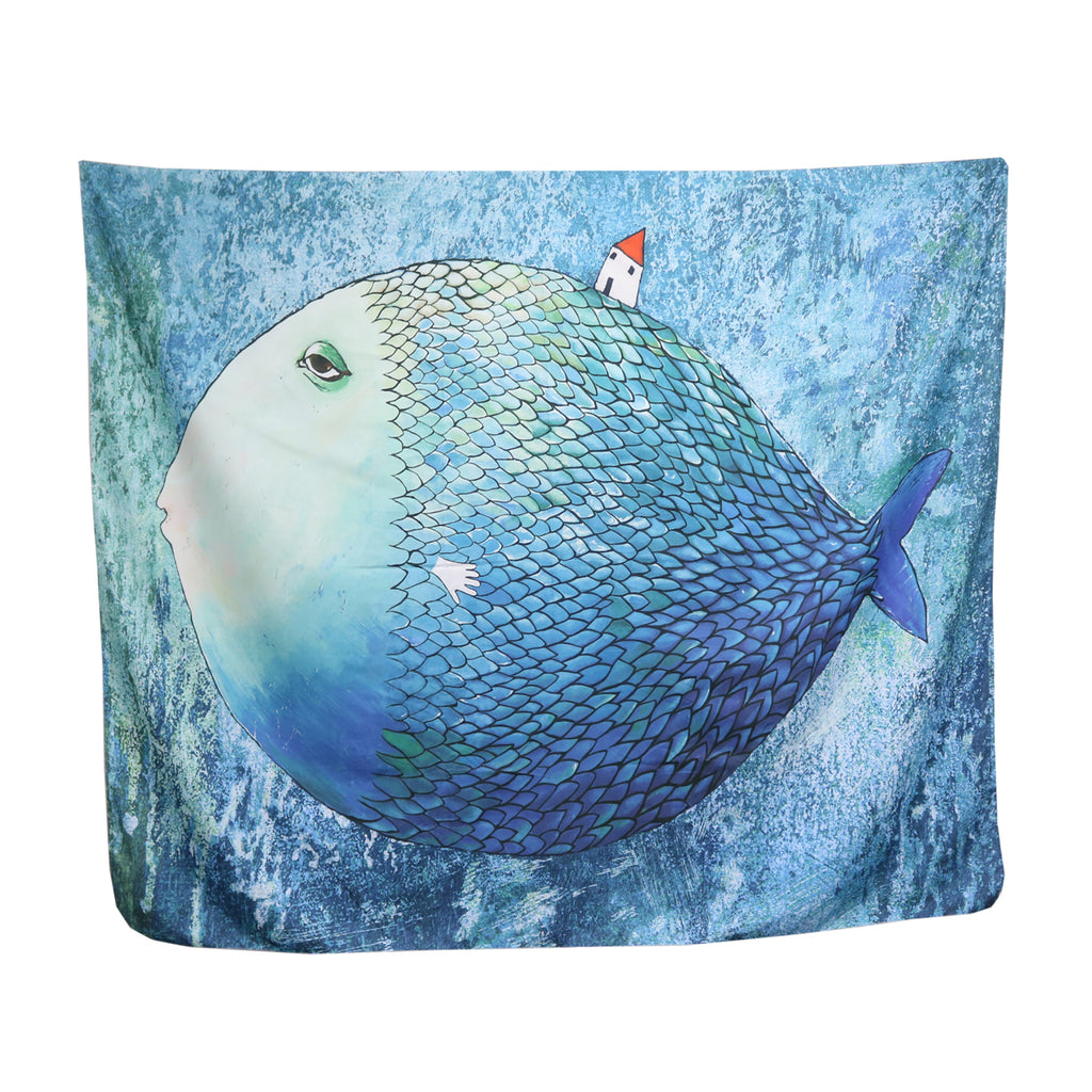Tapestry - teal fish