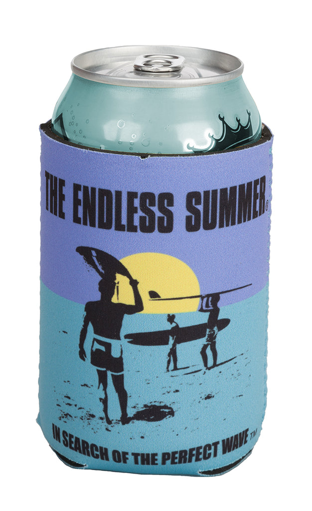 Endless Summer Can Koozie Blue