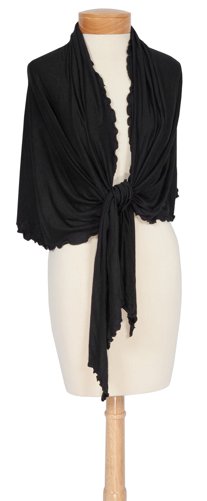 cozy wrap - black