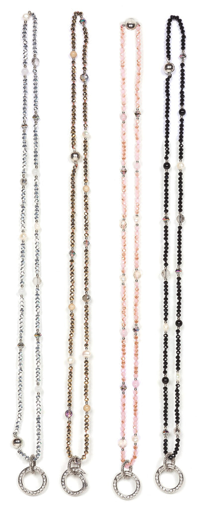 avery crystal lanyard (16pc)