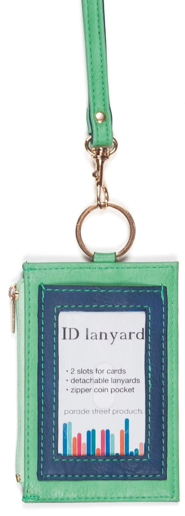 id lanyard - denim/green