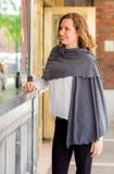cozy wrap - dark grey