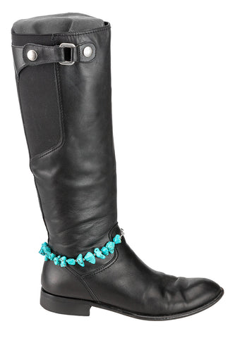 boot bracelet - turquoise and arrows