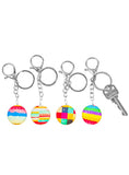 bubble keychain resin- 12 assorted w/display