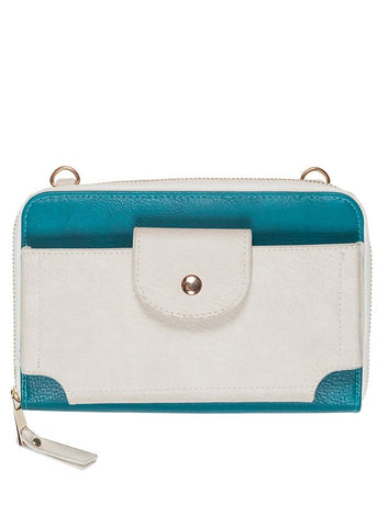 sadie -colorblock crossbody zipper wallet