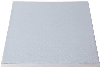 "1/2"" Thick White Full Sheet Cake Drum -7-1/2"" x 25-1/2"" (12 Qty)"