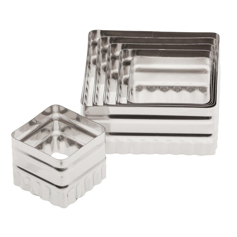 2-Sided Square Cutter Set - Pack of 6