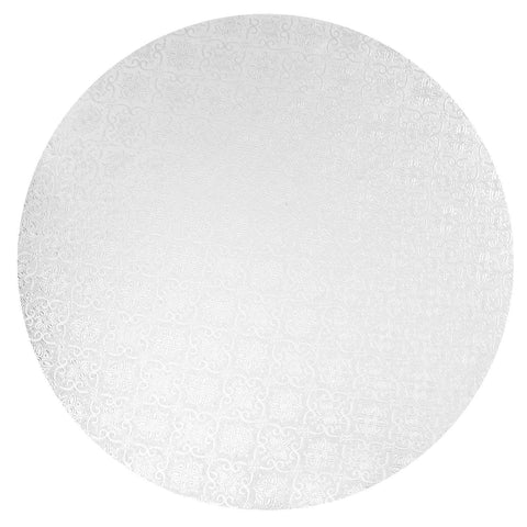"Round White Cake Drums 1/4"" Thick - 24 Qty (Multiple Sizes)"