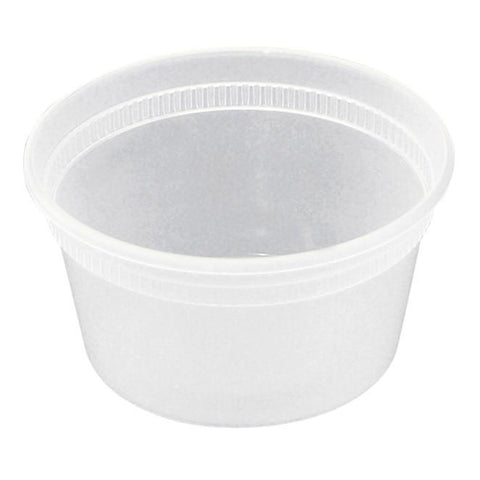 Plastic Deli Cup and Lid - 12 oz - 240 Qty