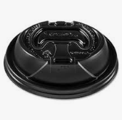 Recloseable Dome Lid For Hotcup (Black)