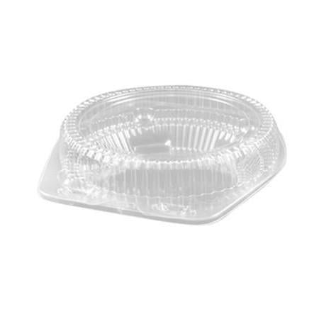 8 Inch Round Hinged Plastic Deep Pie Container