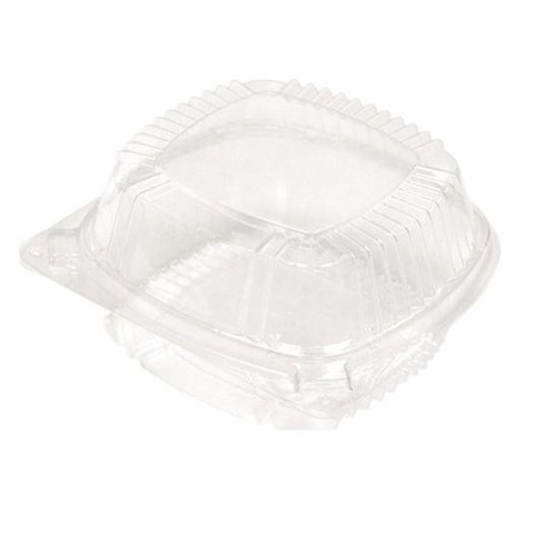 Clear Colored Hinged Tray 6 X 6 x 3