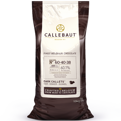 Dark Chocolate Couverture Callets - 60.1% Cacao