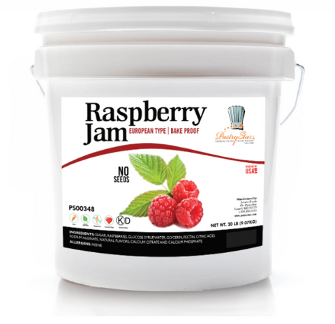 Bake proof Raspberry Jam (No Seeds) 20 LBS-high fruit content