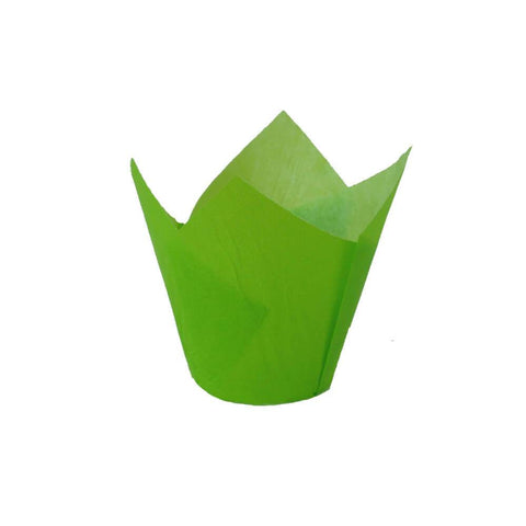 Green Tulip Baking Cup (2000 Qty)