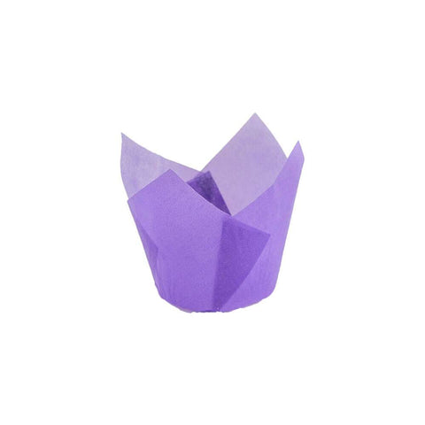Purple Tulip Baking Cup