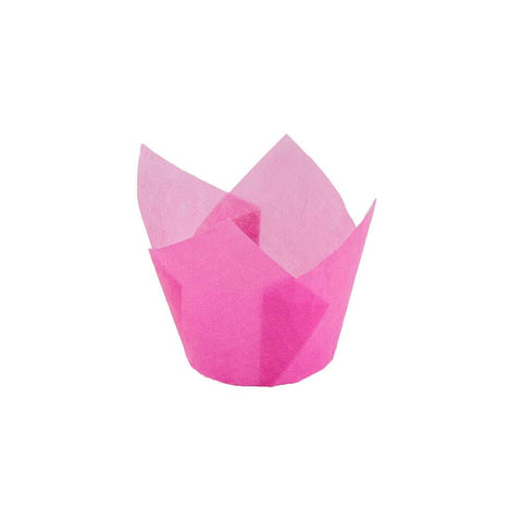 Pink Tulip Baking Cup