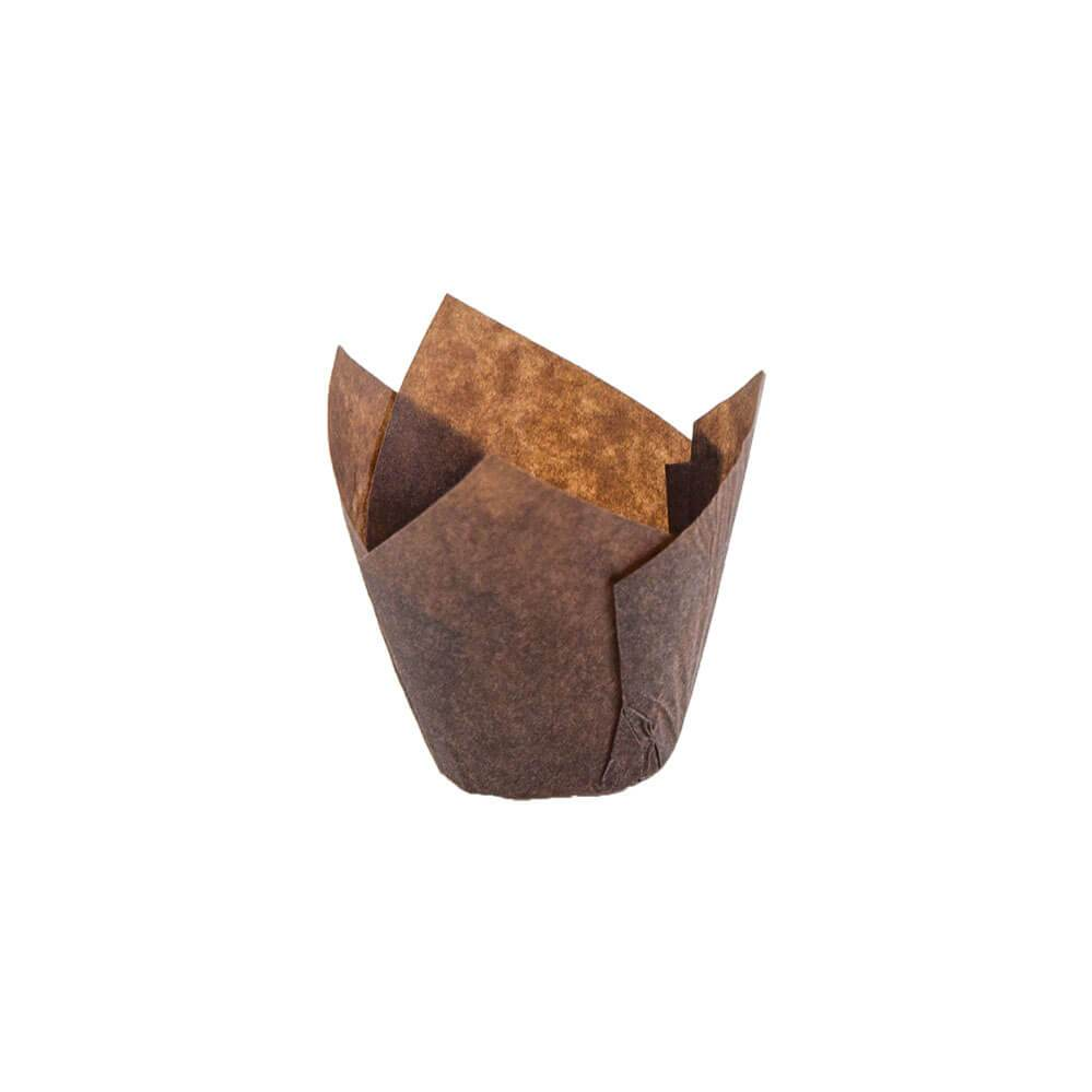 Brown Tulip Baking Cup