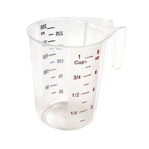 1 Cup Measuring Cup, Plastic, Color Graduations