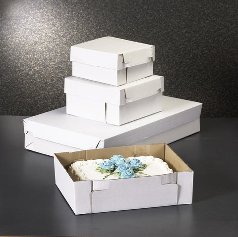 Cake Box Two Piece - 11 x 11 x 4 inch - 100 Boxes