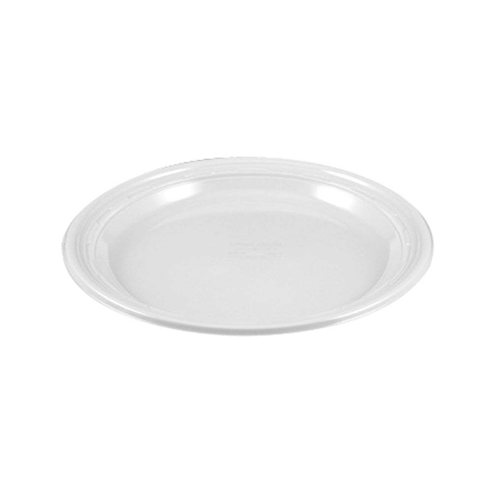 White Plastic Plate - 9 inch - 500 Qty