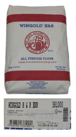 Wingold All Purpose Flour 2x25LB (Bleached, Bromated)
