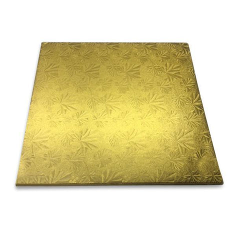 "1/2"" Thick Gold Half Sheet Cake Drum - 17-3/4 x 13-3/4"" (12 Qty)"