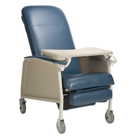 Geri Chair Blue 3 Position 250Lb Capacity w/Locking Tray by Dynarex
