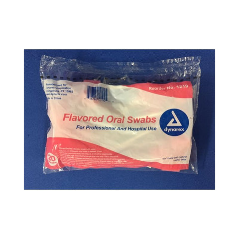 Swabstick Oral Dentrifice Bagged 20's Compare to Toothettes® by Dynarex