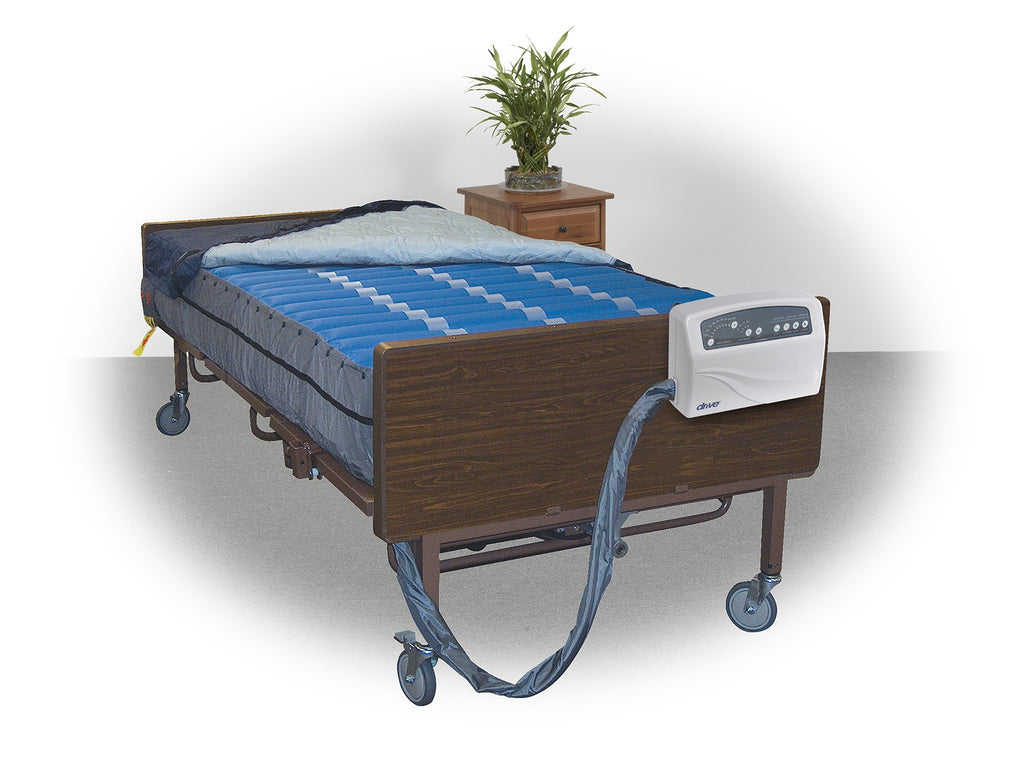"Overlay Mattress System Med-Aire + 3 Sizes 10"" Bariatric A.P. Low Air Loss 750lb  by Drive"