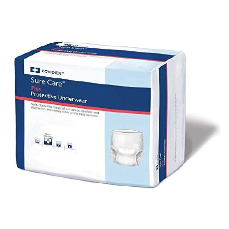 Underwear Bariatric Pull up Heavy Absorbency Sure Care™ Plus by Kendall