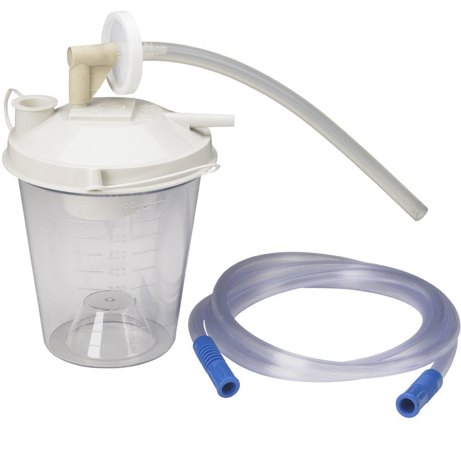 Suction Bottle 800cc with Tubing and Filter Kit Universal by Drive
