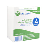 Dressing Gauze Pad 100% Cotton Sterile 50-2's 4x4 Value Line by Dynarex
