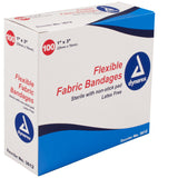 Bandage Fabric Adhesive Sterile Latex free Assorted Sizes by Dynarex