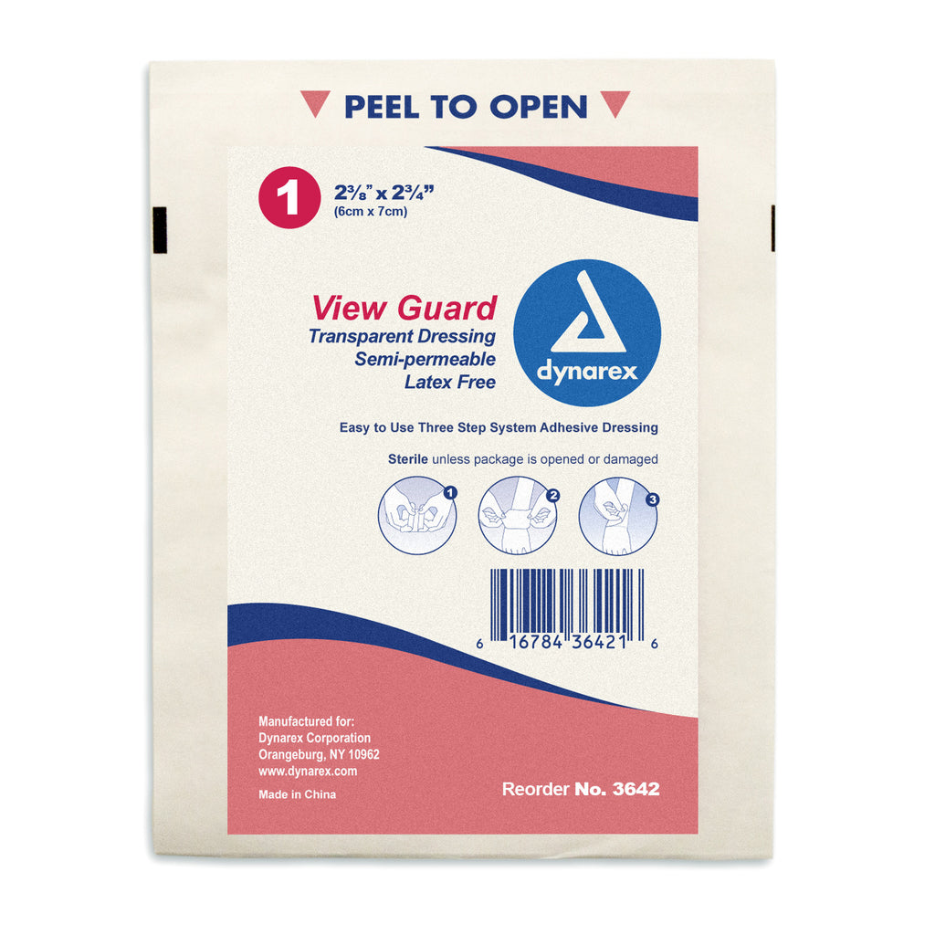 Dressing Thin Film Transparent Wound Sterile ViewGuard Assorted Sizes by Dynarex