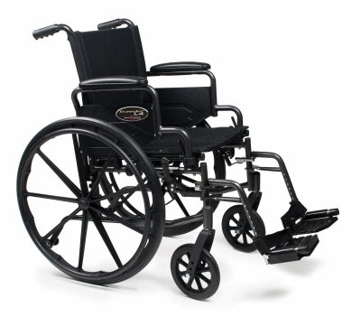 Wheelchair 18x18 Traveler® Lightweight Black Seat 250lb Capacity by Grahmn Field