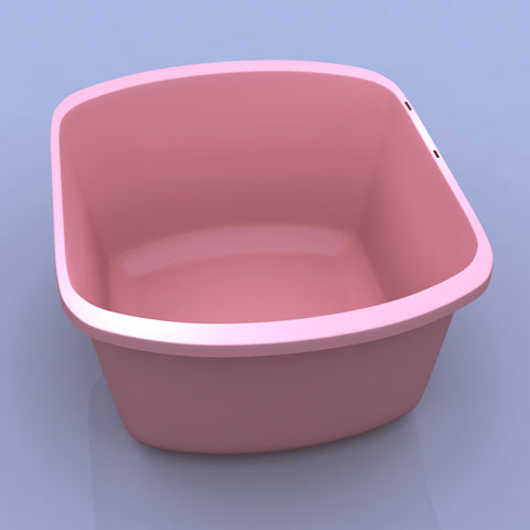Basin Wash Plastic Products Patient Room Mauve by Dynarex