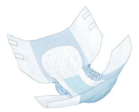 Brief Adult Simplicity™ Extra Quilted Polymer Fill Moderate Absorbency by Kendall