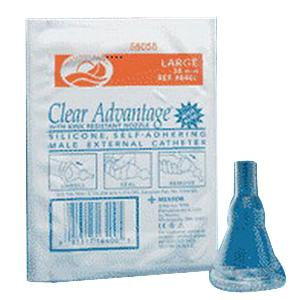 Catheter Male Condom Style Silicone w/Aloe Freedom® Clear Advantage® by Coloplast