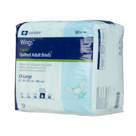 Briefs Bariatric Wings™ Super Quilted Maximum Absorbency by Kendall
