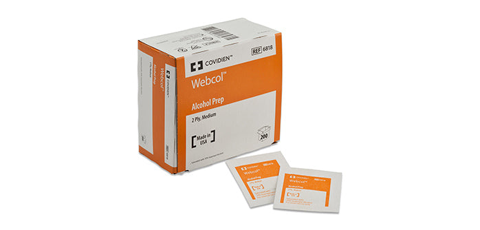 Alcohol Prep Sterile WEBCOL Premium by Kendall
