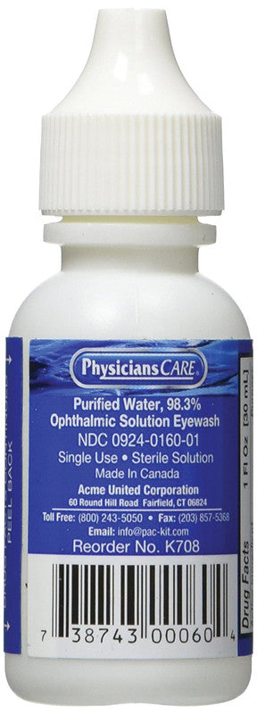 Eye Wash Refill Solutions in Bottles All Sizes by Acme
